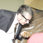 Laurent Delahousse, French Ambassador to Zimbabwe, samples one of our brands